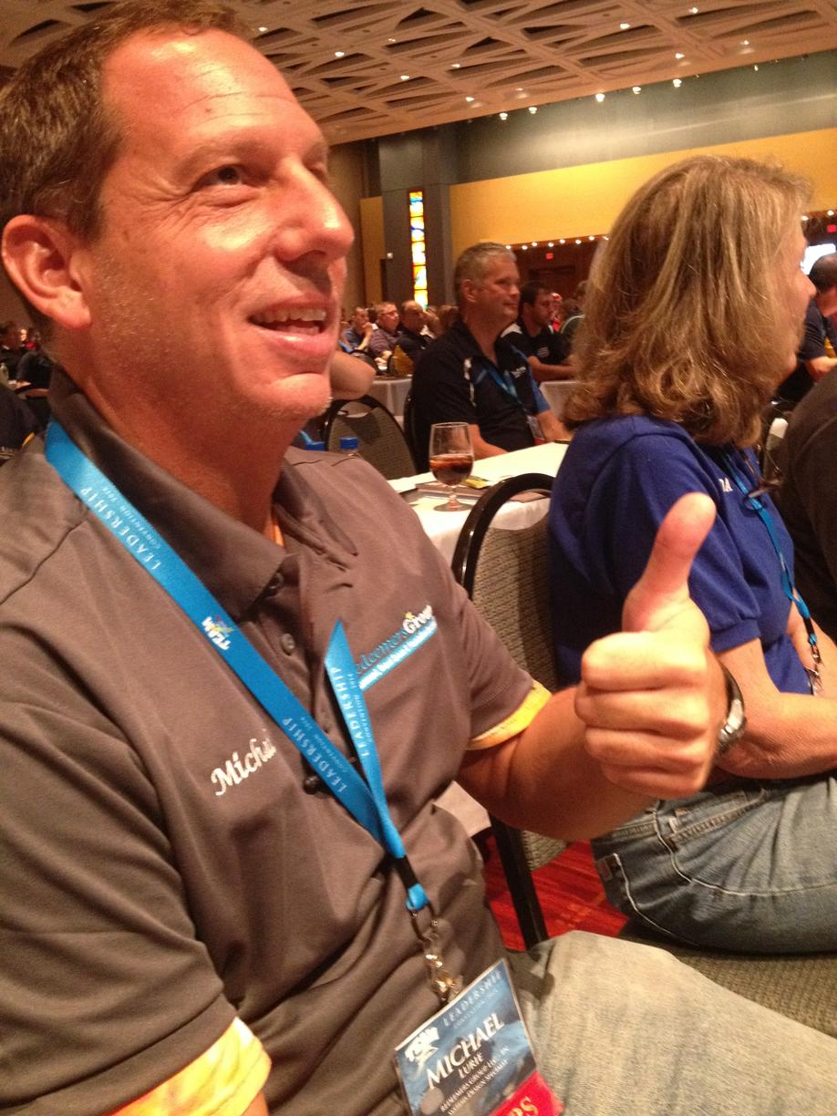 Michael Lurie enjoying the general session