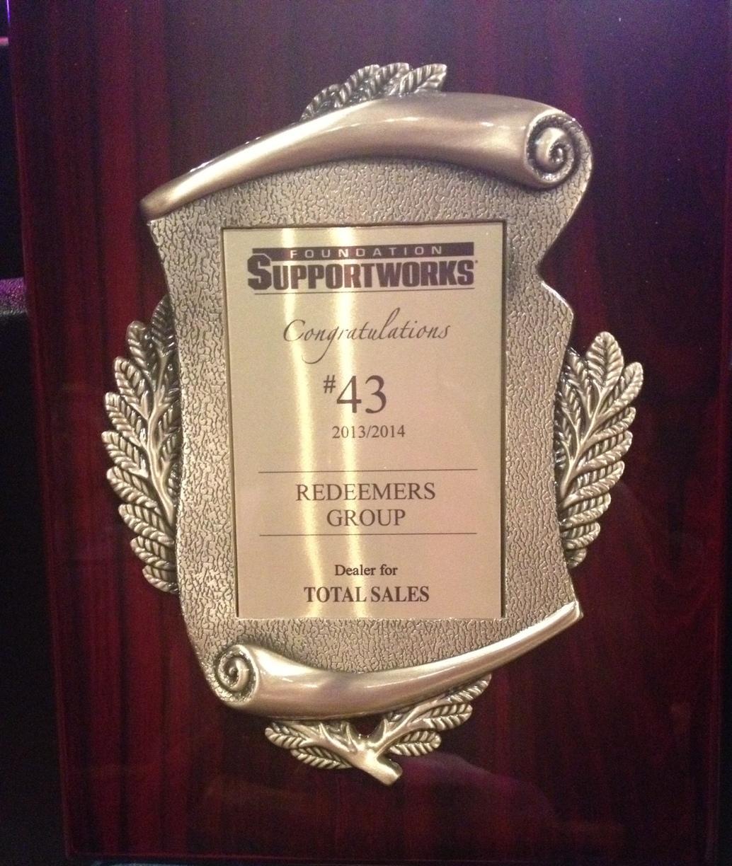 Team recognized as the #43 FSI dealer