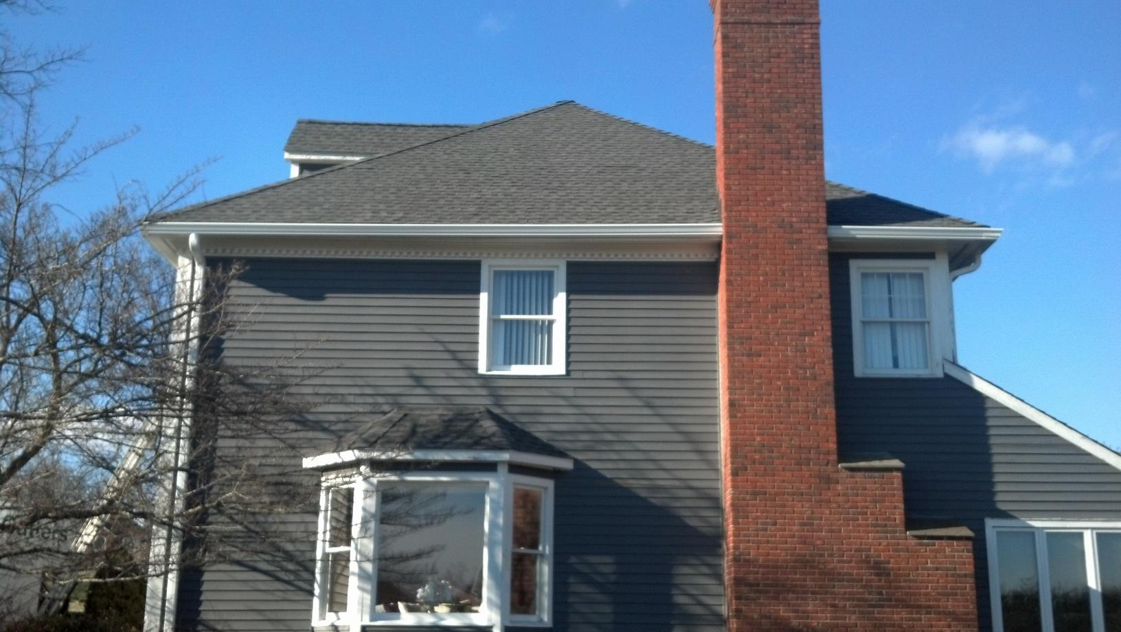 New Gutter Installation on This Home in Trumbull, Ct