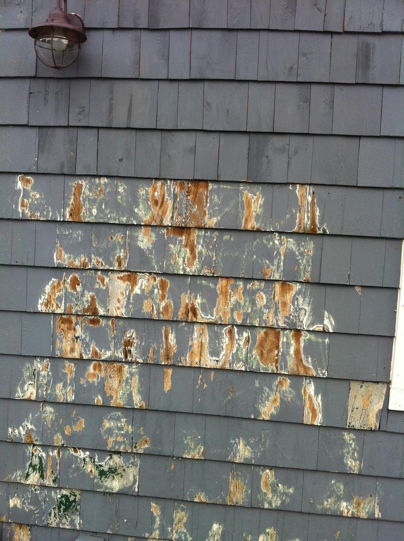 Peeling, Cracked, Old paint