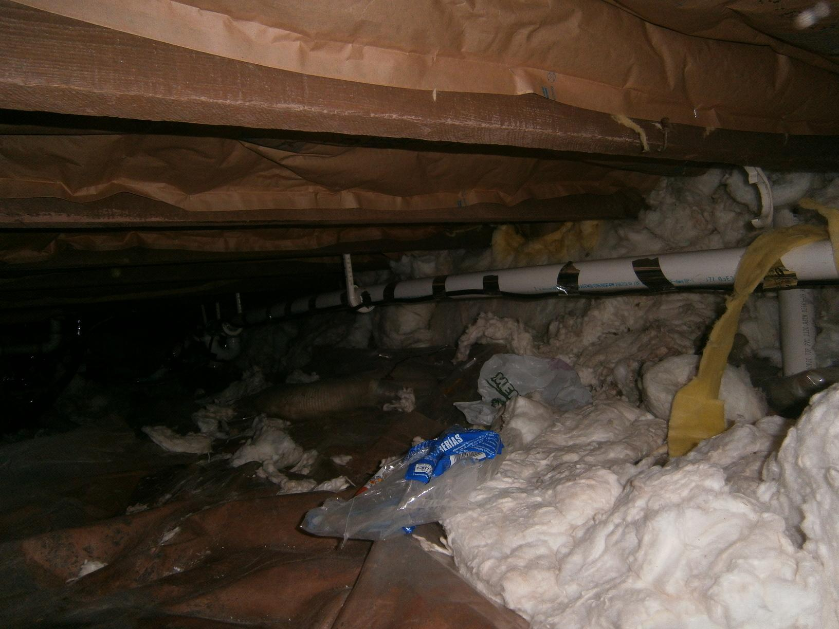 A Dirty, Poorly Insulated Crawl Space in Superior