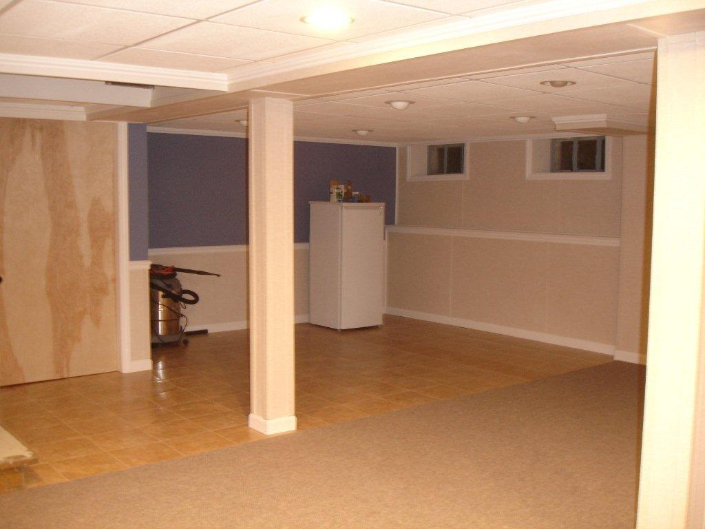 Old Town, Maine Basement After Remodeling