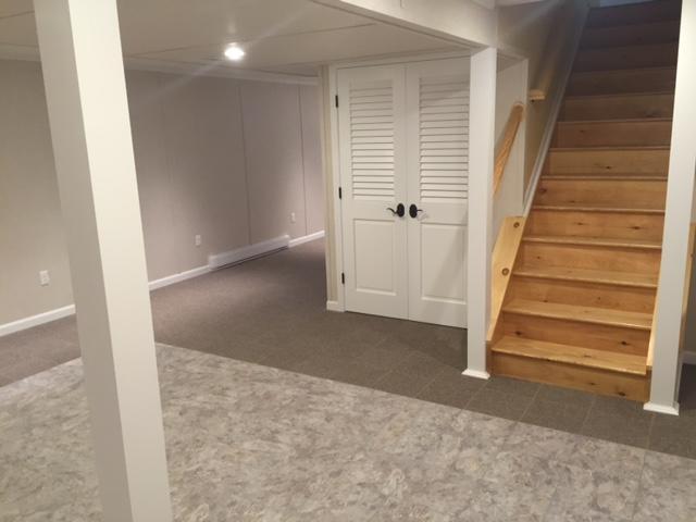 New walls, ceiling, flooring and doors