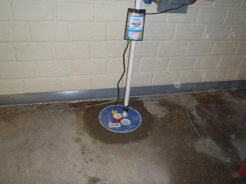 Brand new basement sump pump