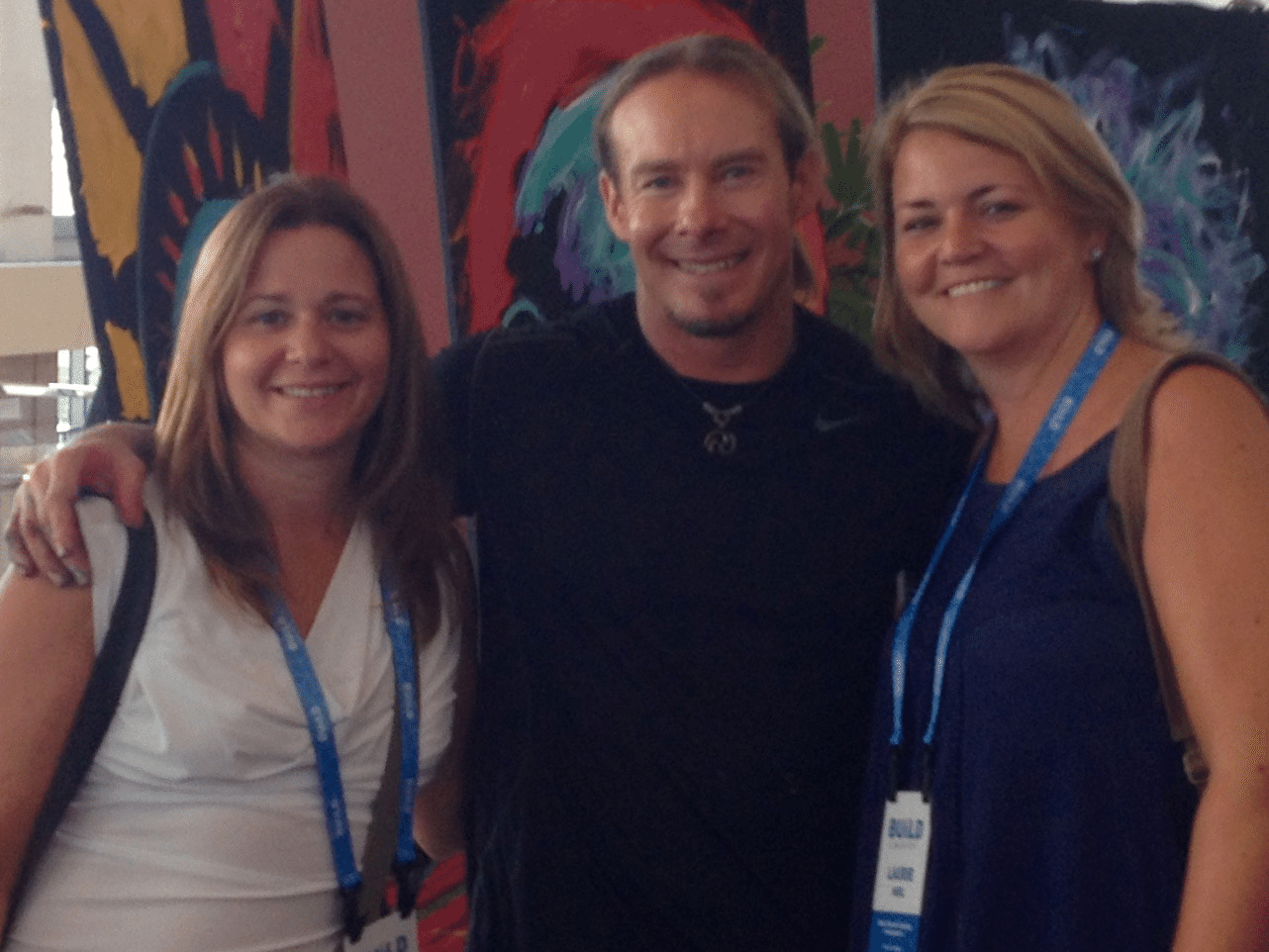 Laurie and Bobbi with Eric Wahl