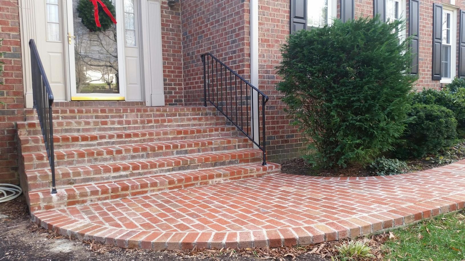 Decks Cave Spring Masonry Porch Steps And Sidewalk