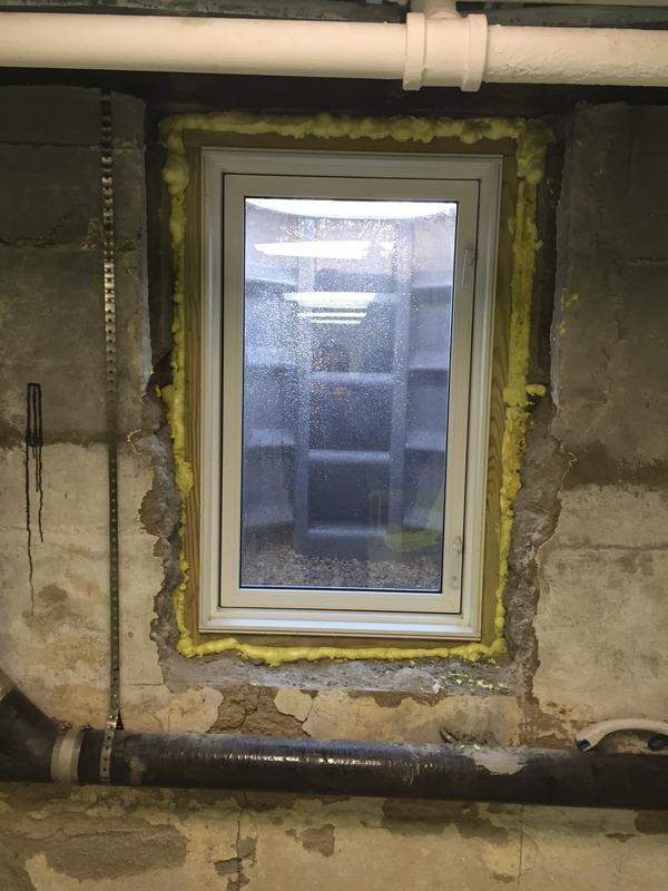 Fully installed egress window