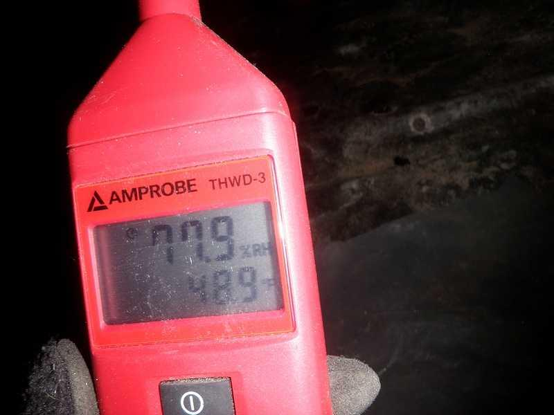 High humidity in the crawlspace