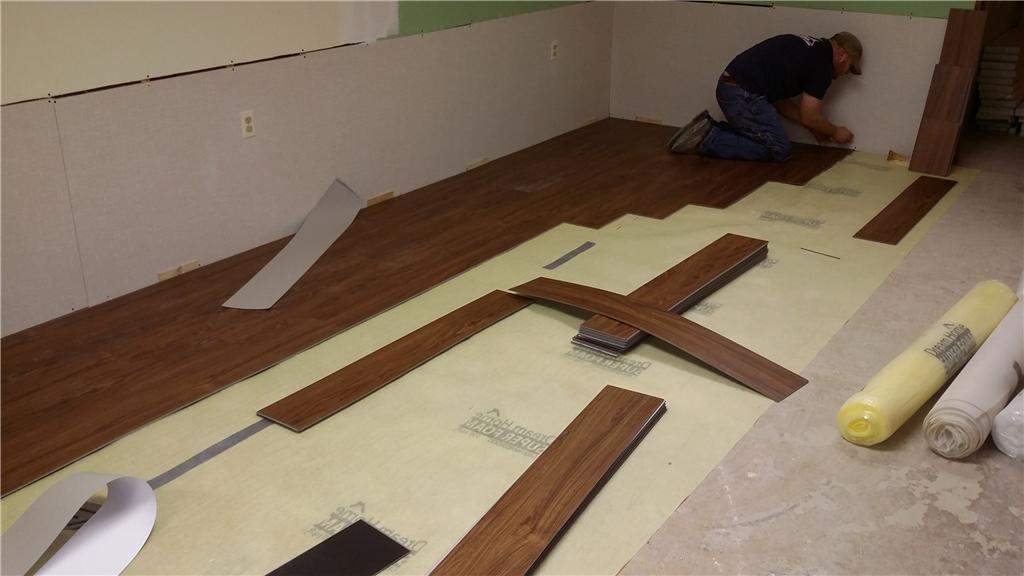 New Waterproof Flooring for Flooded Basement