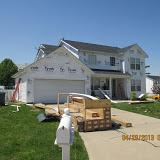 The air infiltration is kept at a minimum with a good quality house wrap.