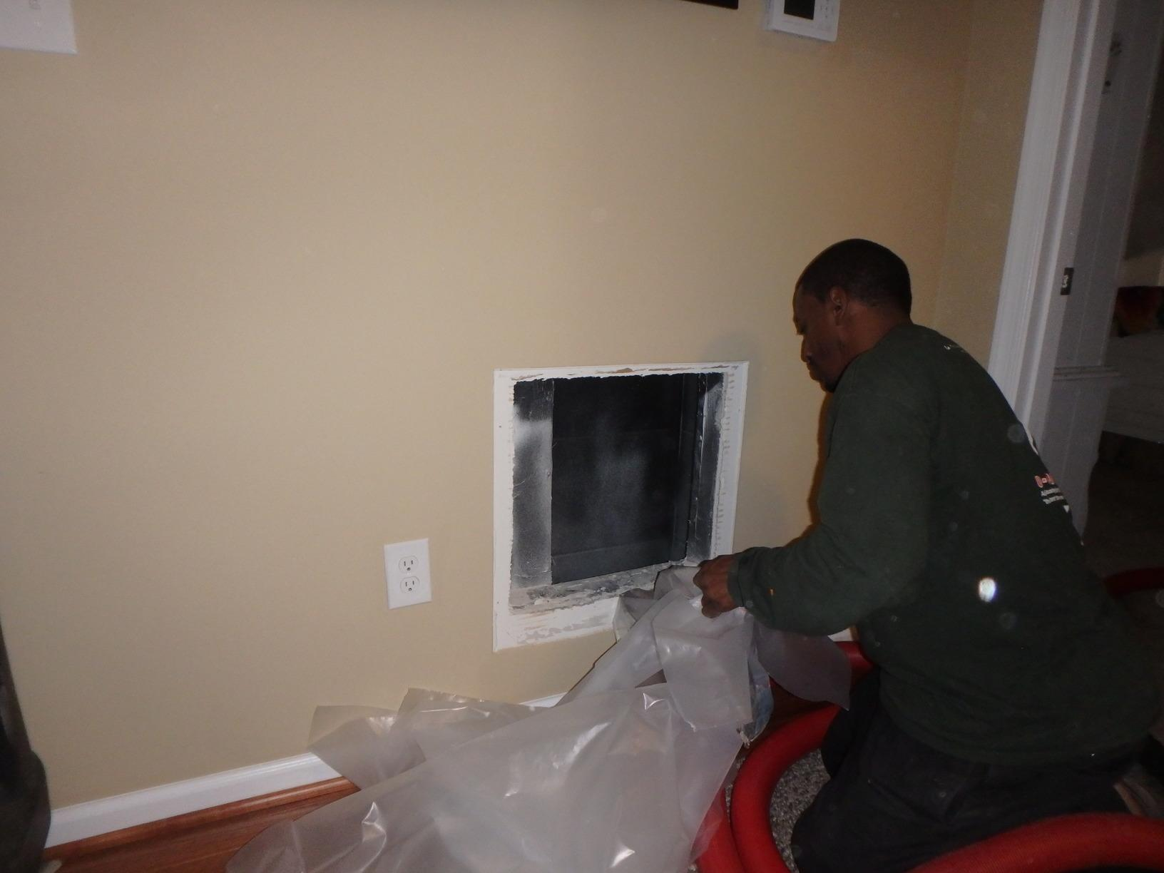 Cleaning the Duct Work