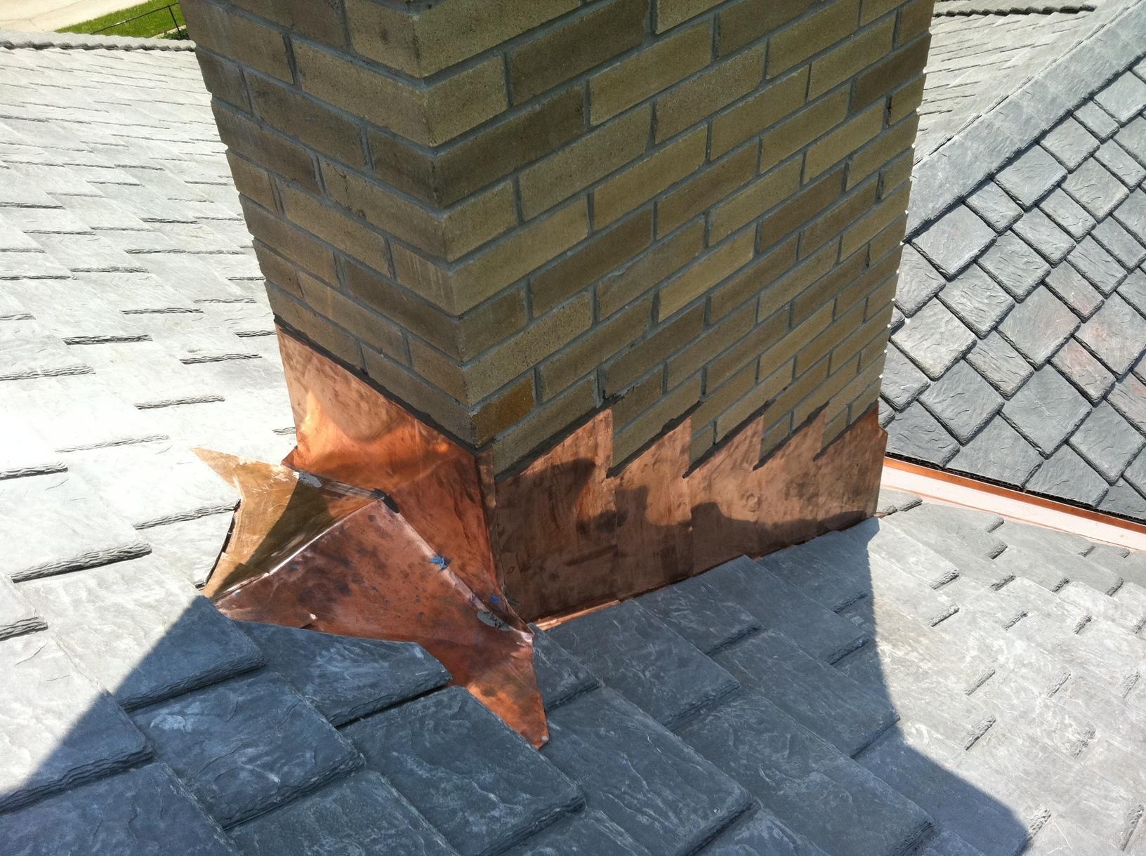 Copper Chimney Detail