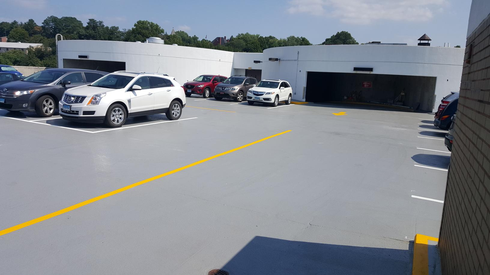 Completed Garage Deck Coating in Bristol, CT