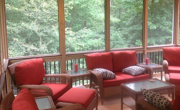 More outdoor living space