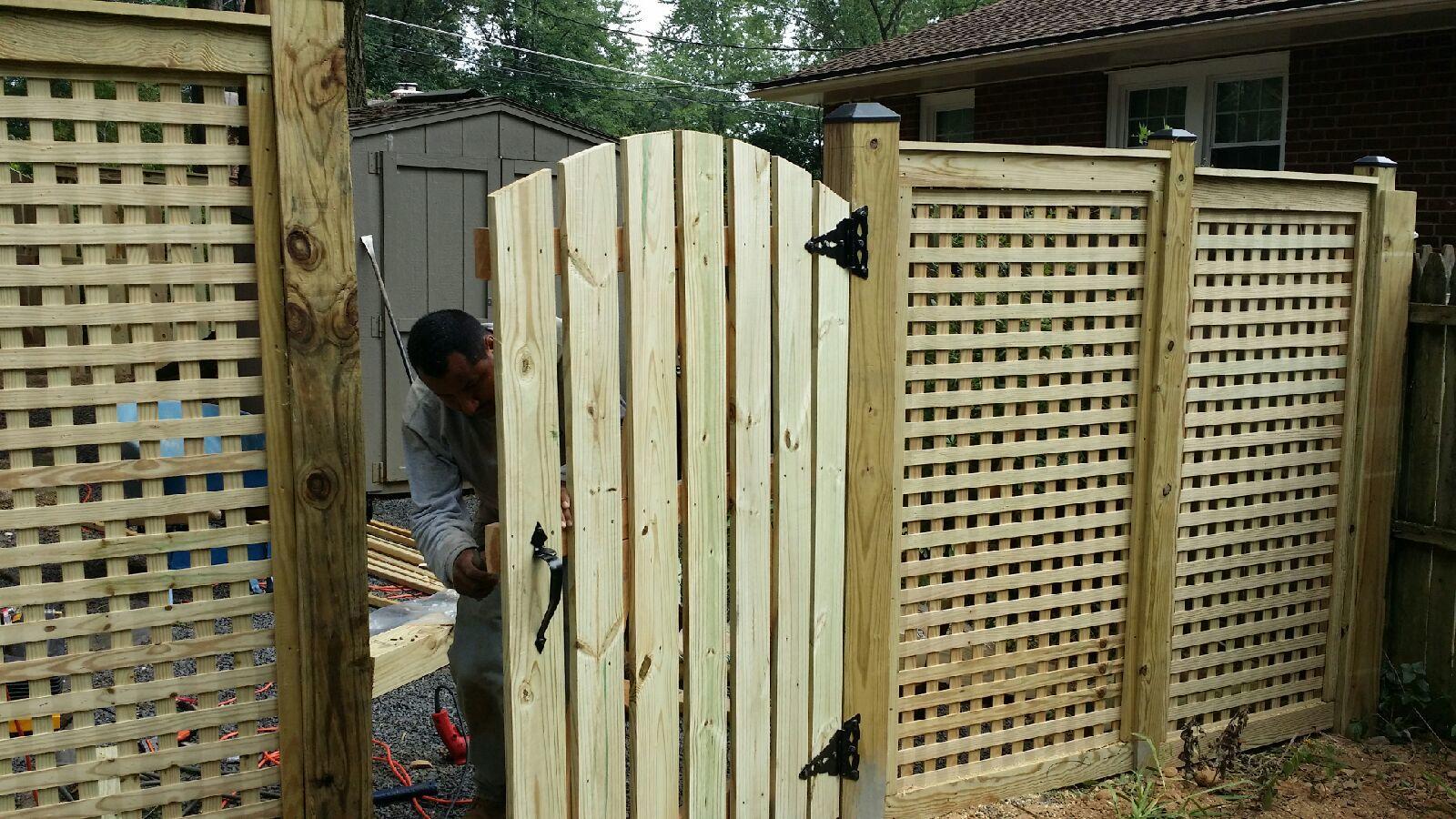 Custom Wood Lattice Fence, Hamilton, VA