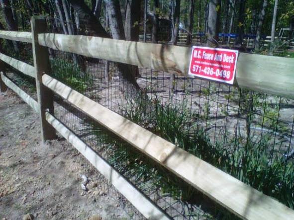 Mclean, Va Split Rail Fencing install