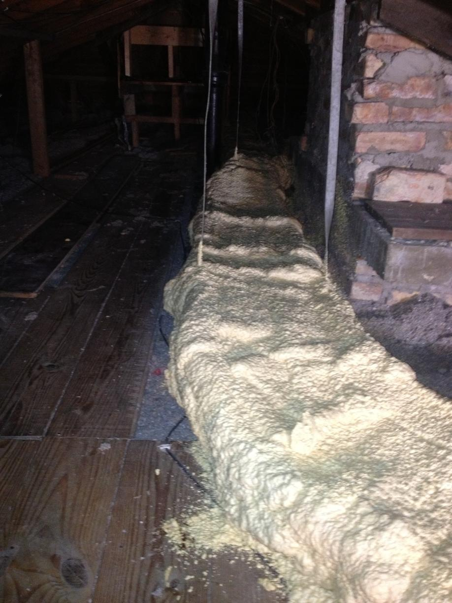 Spray Foam Ducts In the Attic