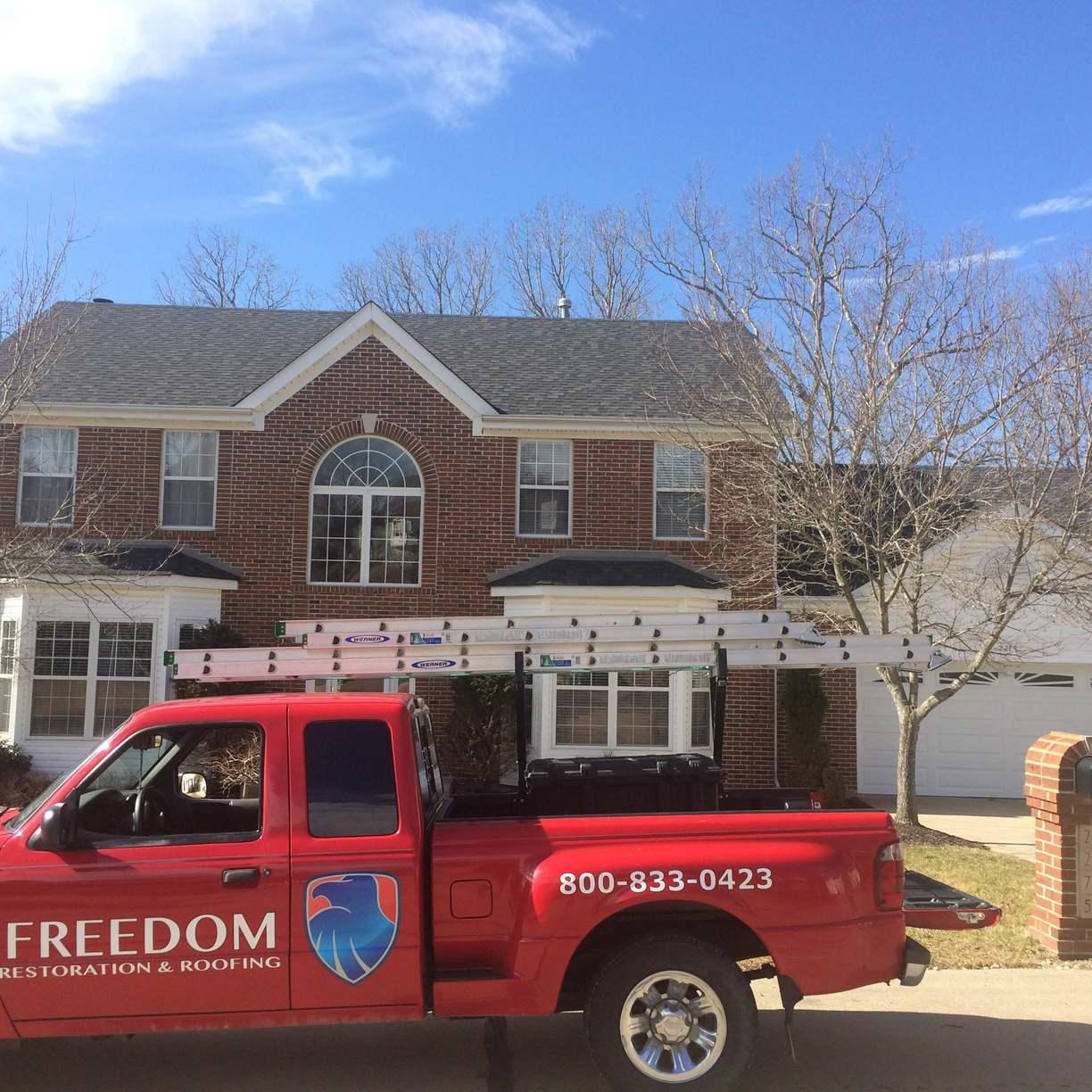 Freedom Restoration Roofing Roof Repair Photo Album Roof Repair In Chesterfield Mo