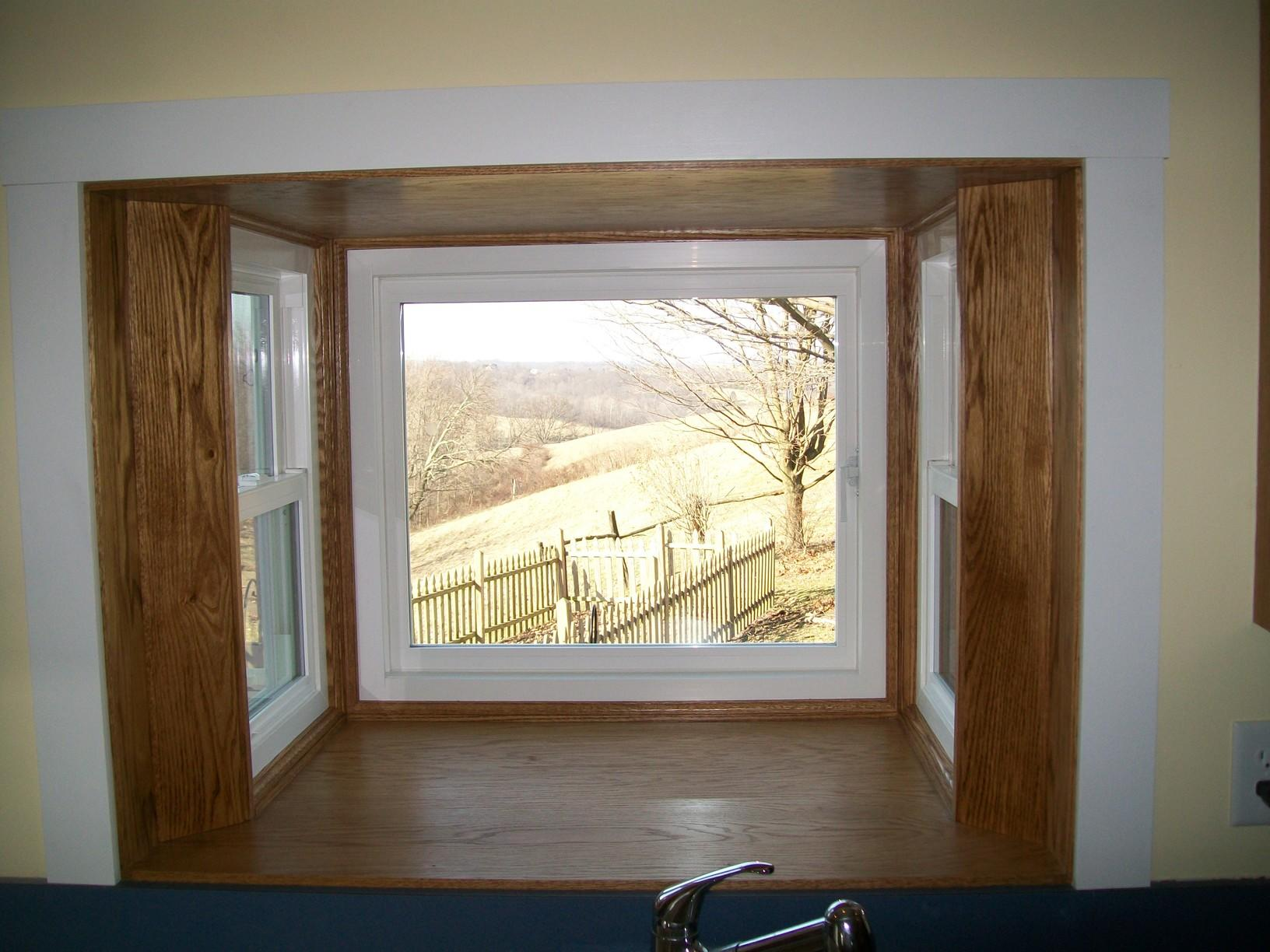 Interior view of box bay window installed in Claysville, PA