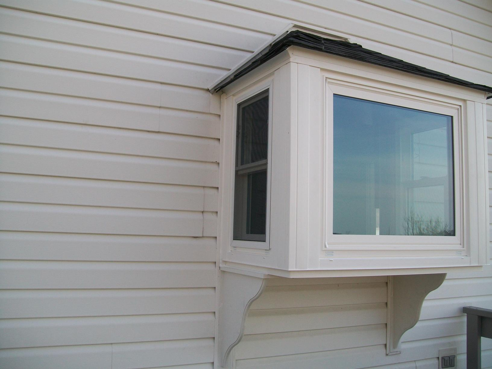 Exterior view of box bay window installation in Claysville, PA
