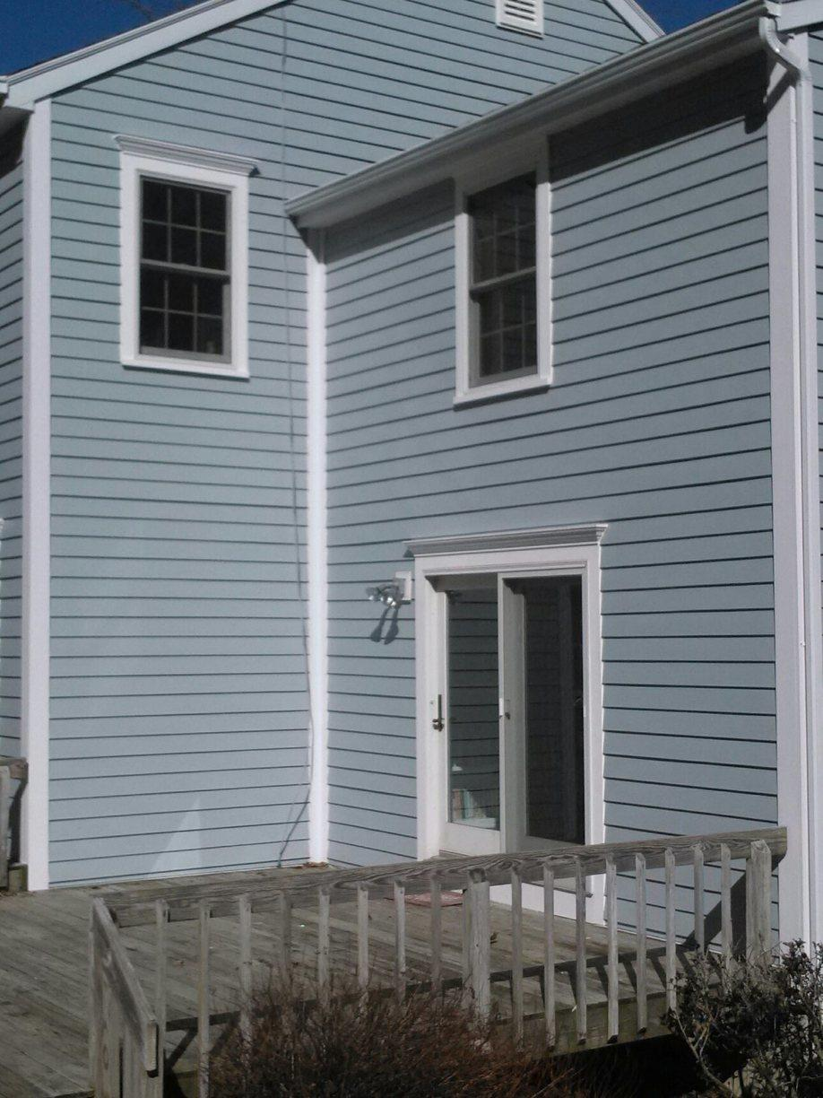 Rear of Home With Replaced Siding