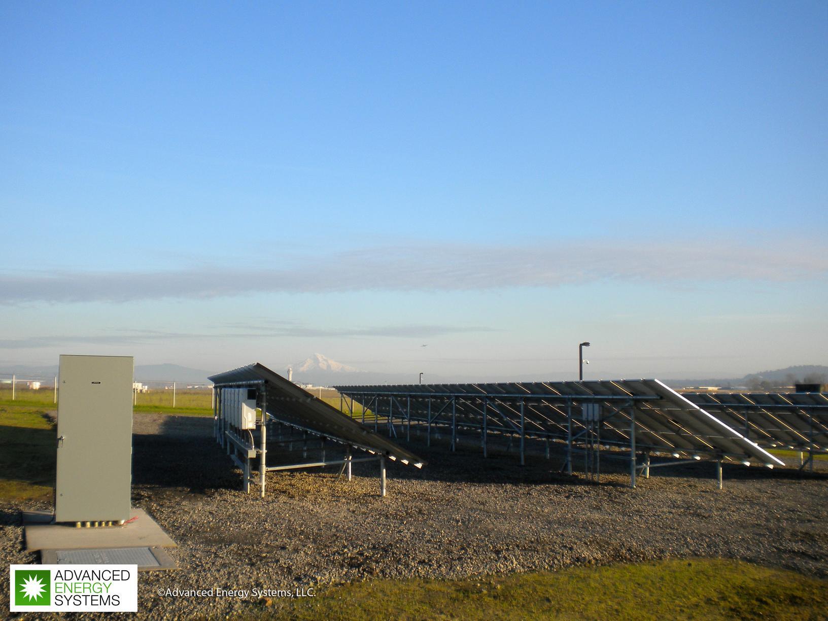 Solar Panels Back View