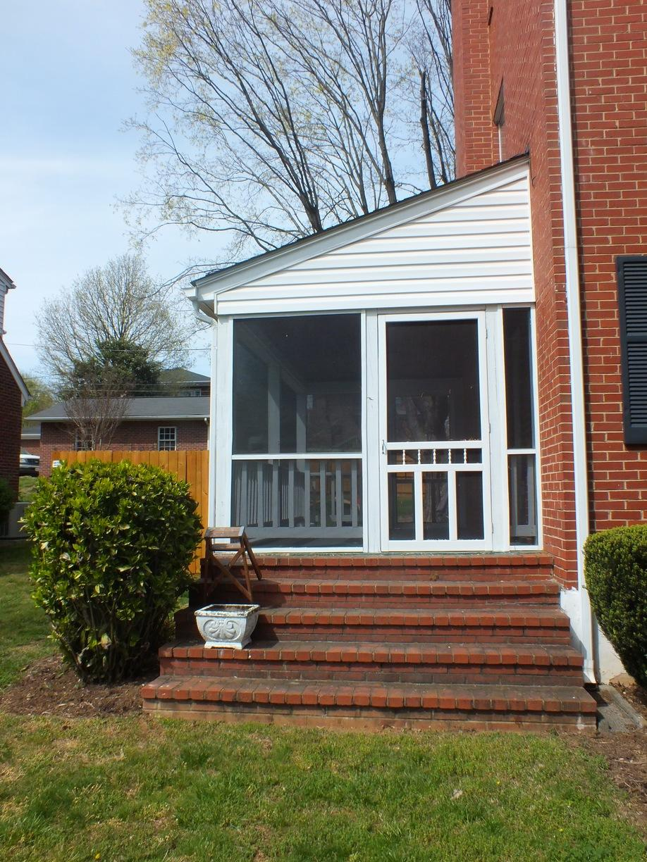 Completed Screened-In Side Porch