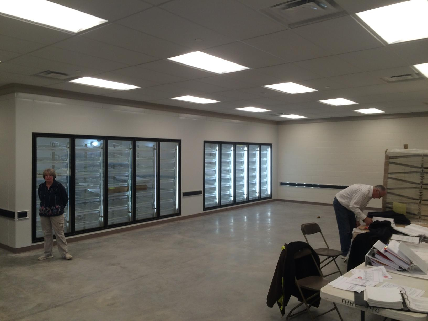 Freezers and coolers installed for perishable items
