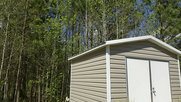 Gutter Installation In Fairburn Georgia Shed Before