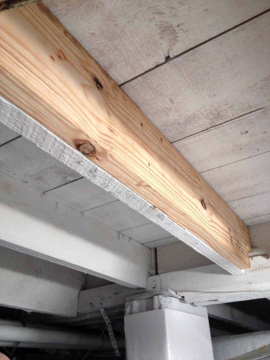 Crawl Space Repair Drainage Floor Joists Mold Remediation