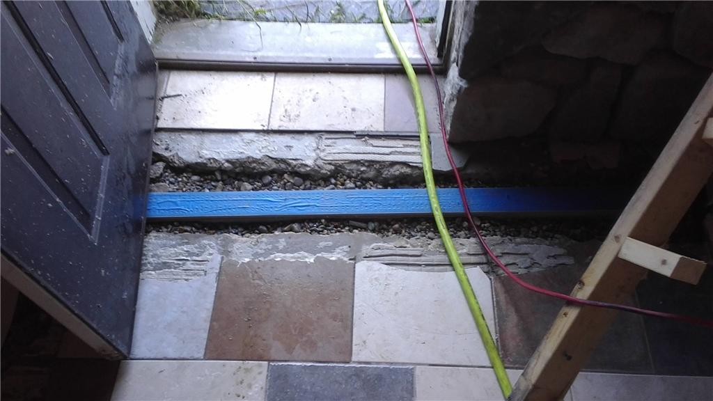 Trench Drain Eliminates Rushes of Water