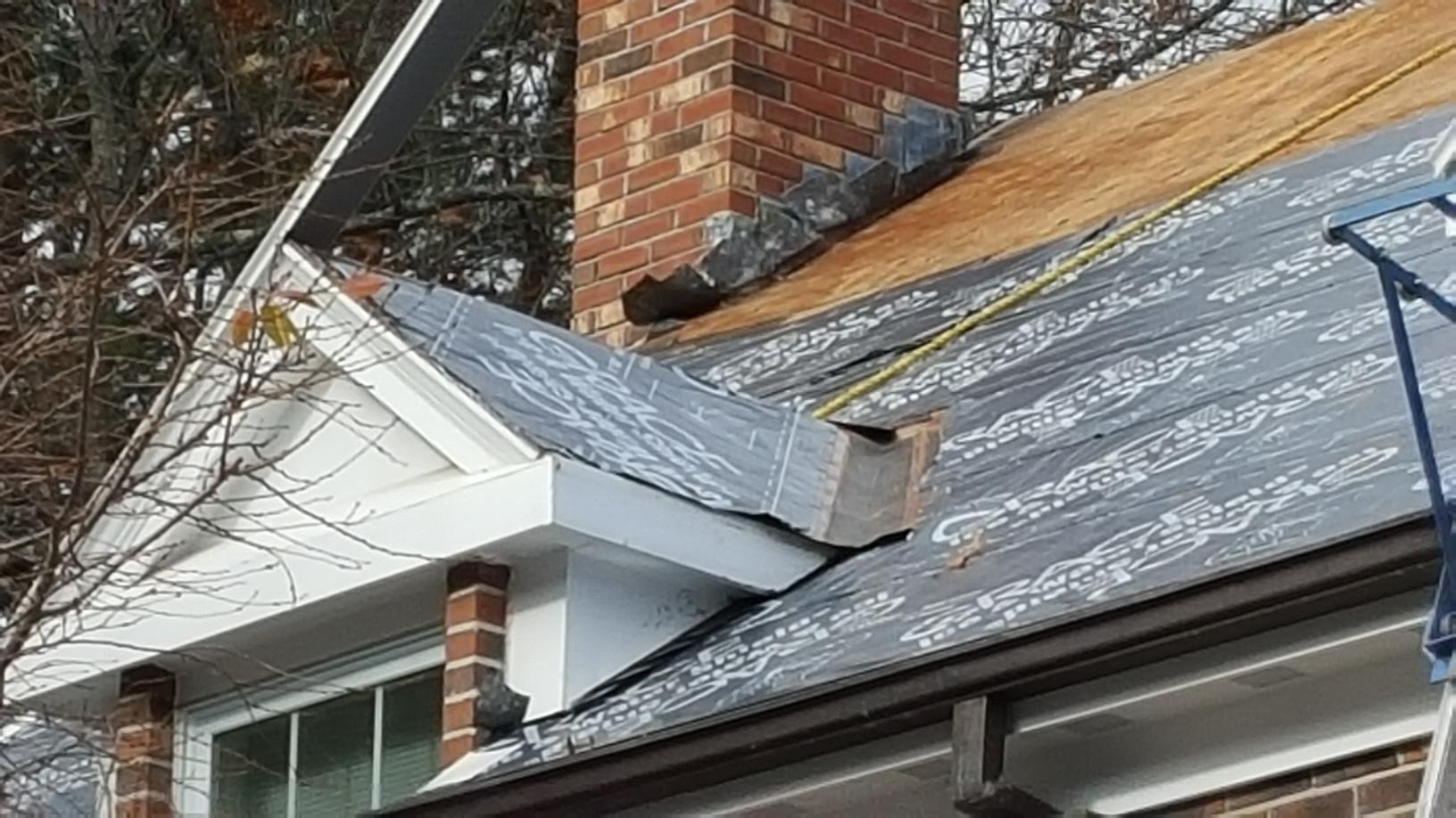 Roofing Services Shingle Roof Replacement On Roof With