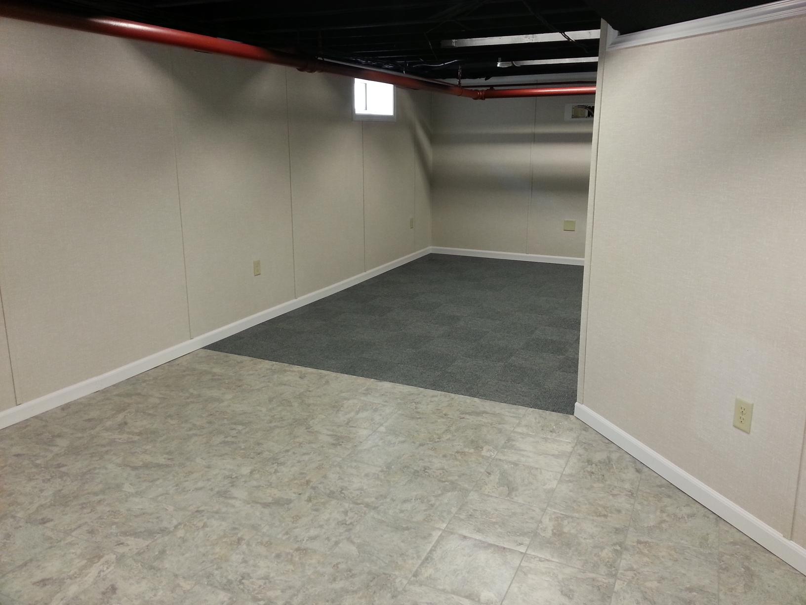 Bangor, Maine Basement Floors & Ceilings