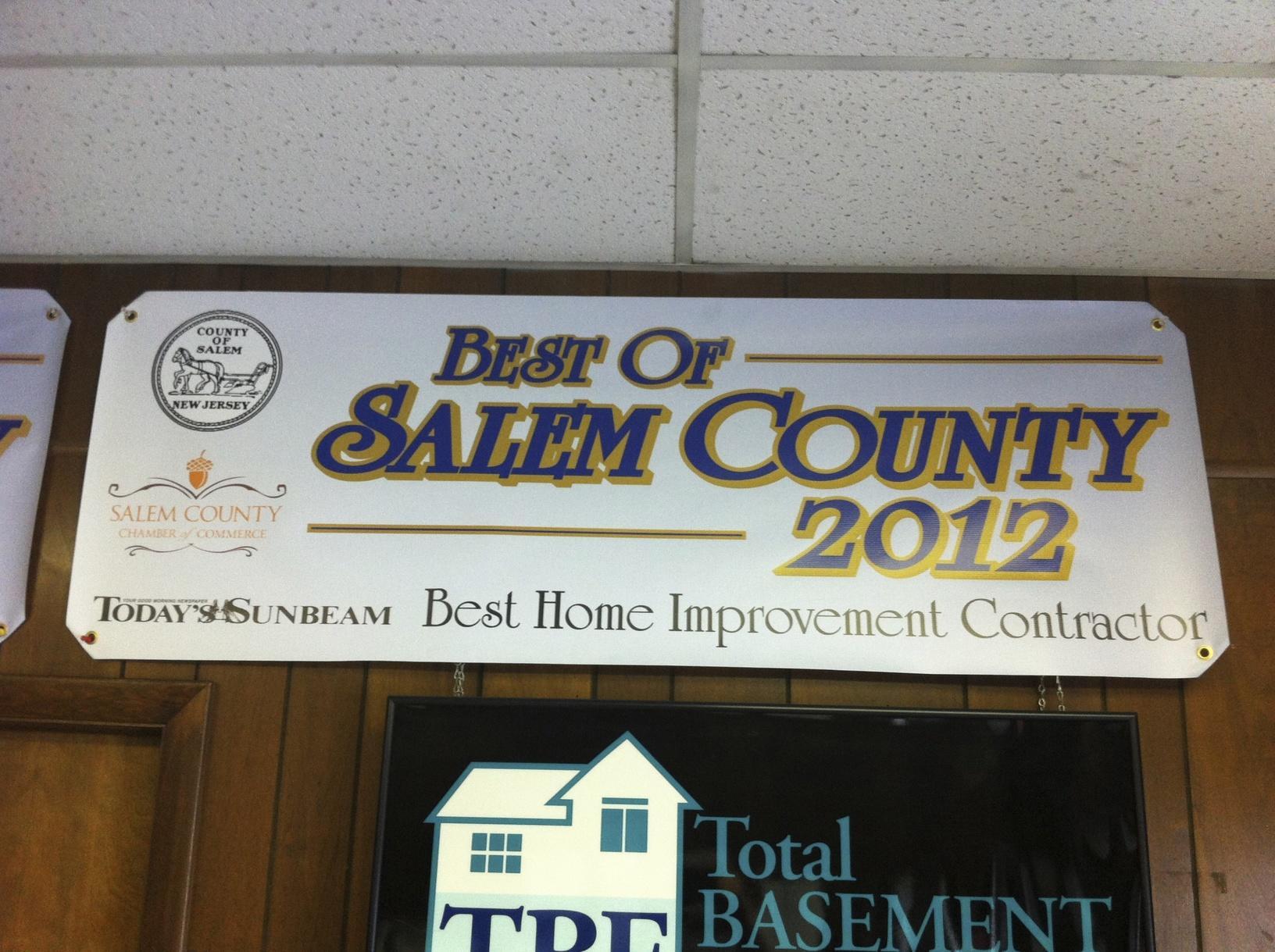 Best in Salem County 2012