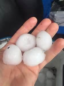 Egg-sized hail