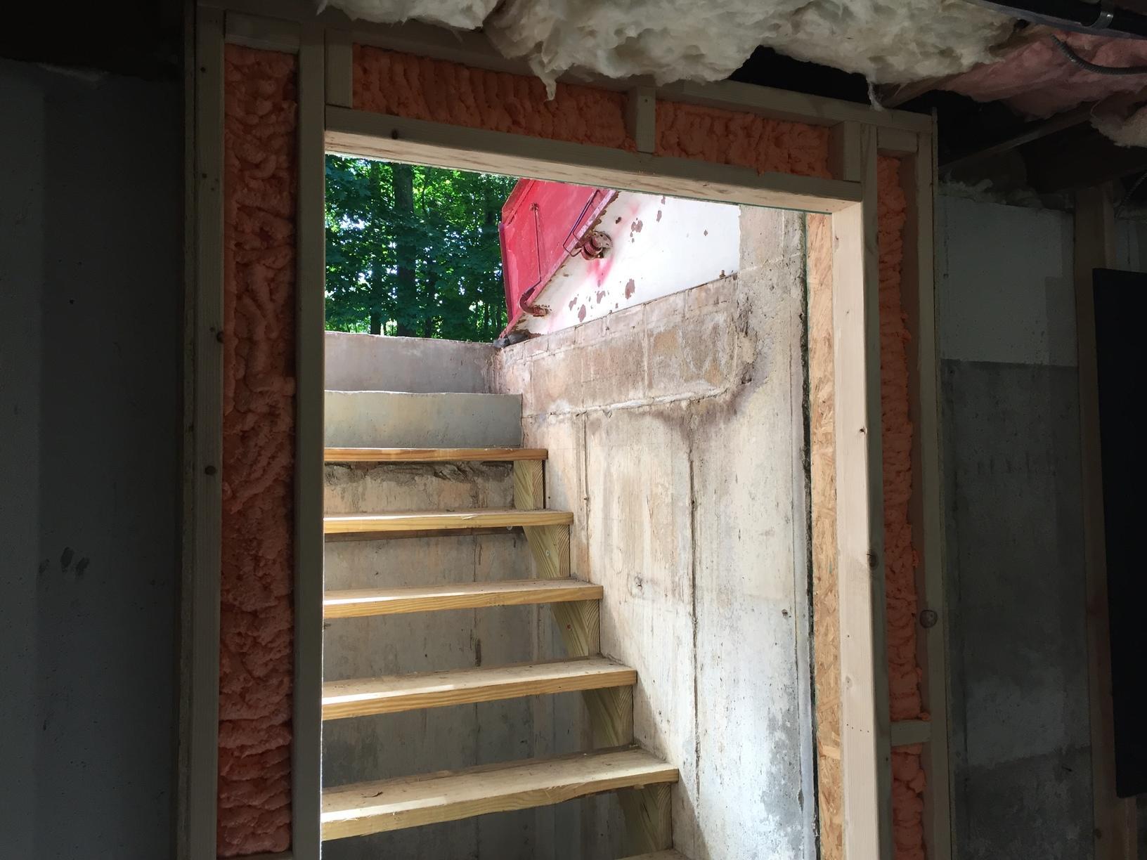 Spray Foam Insulated Door Frame