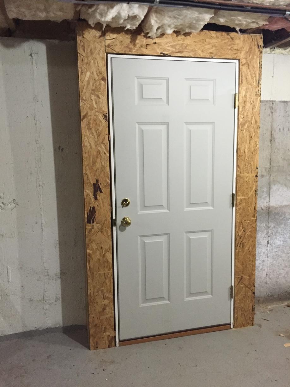 Spray Foam Insulated Basement Door