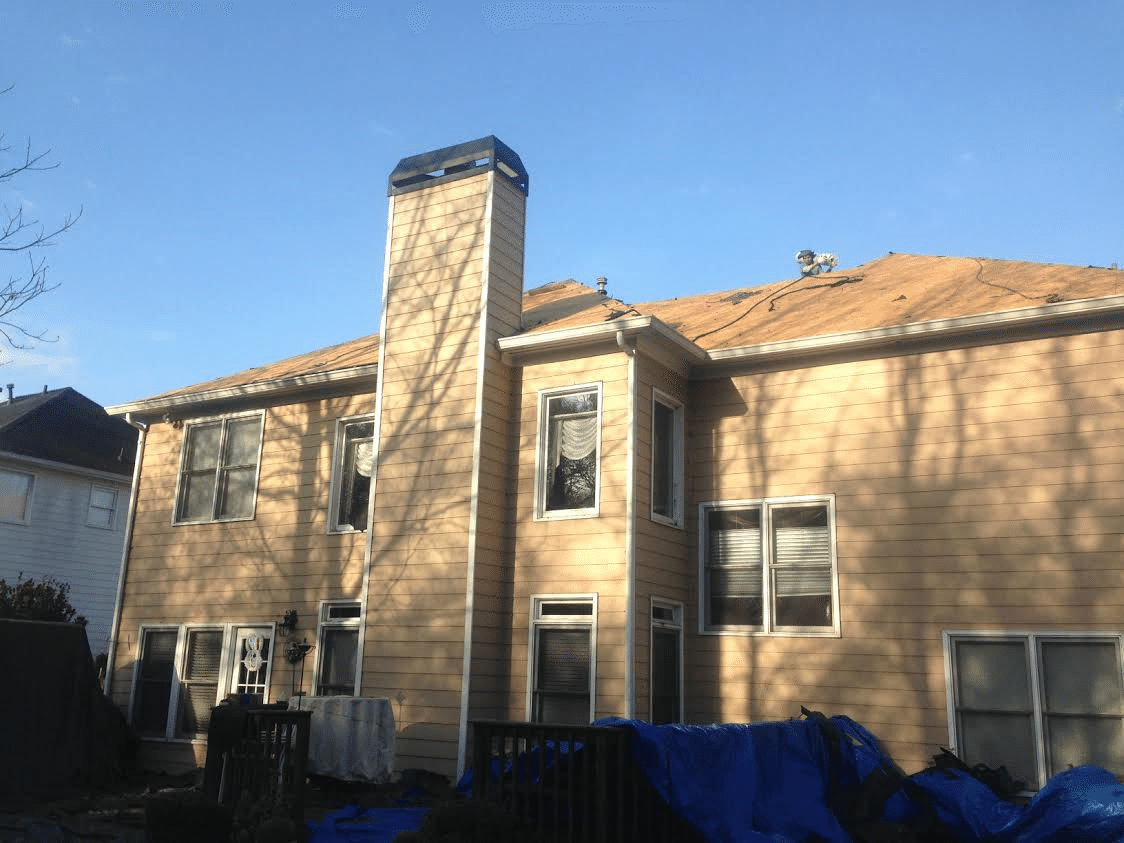 During Photo from the rear of the home
