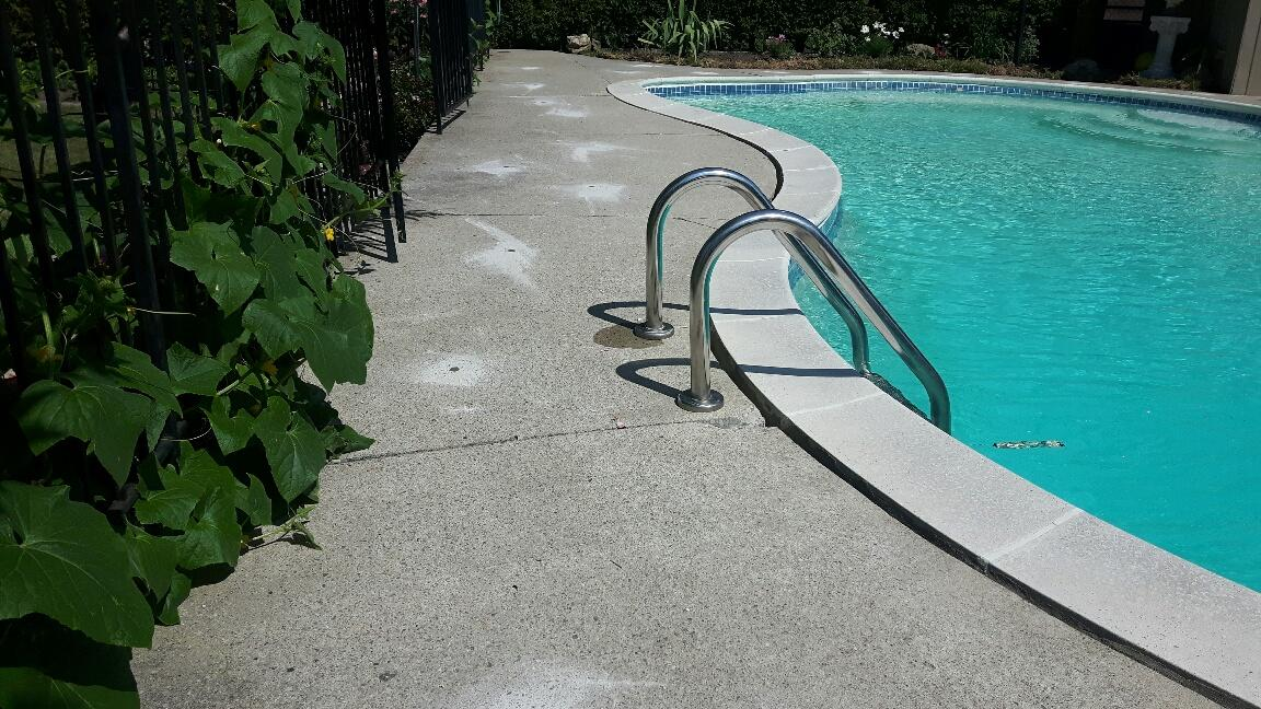 Pool Deck Leveling (Before)