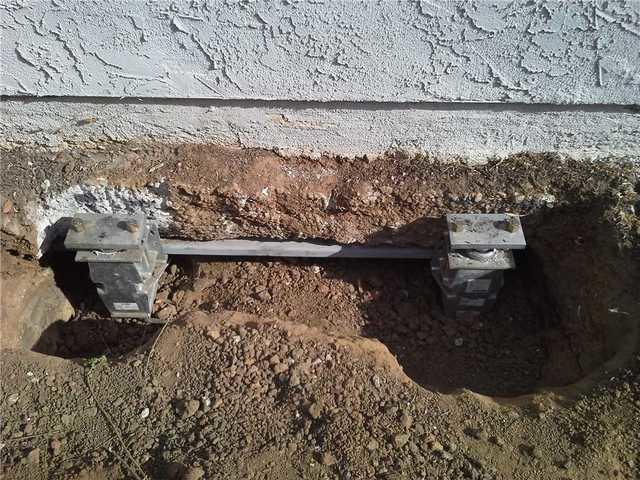 Installed foundation piers and support beams on a San Diego property.