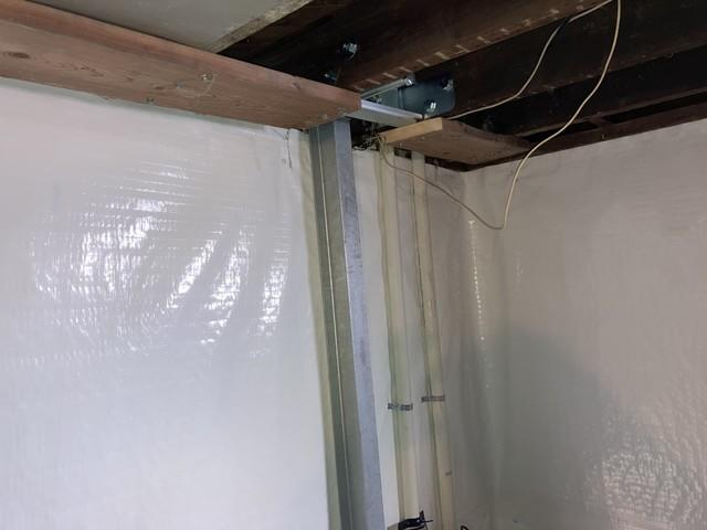 The PowerBrace was able to stabilize the walls