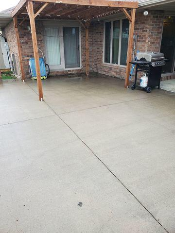 Settlement has caused problems with the concrete