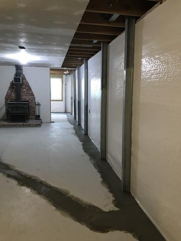 This is one of three walls in which the PowerBrace system was installed.