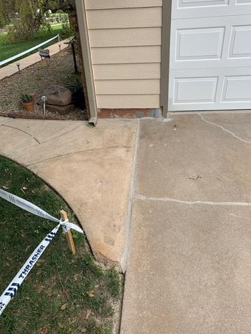 The driveway was lifted with PolyLevel
