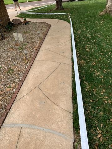 Just like the driveway, the sidewalk was also lifted with PolyLevel