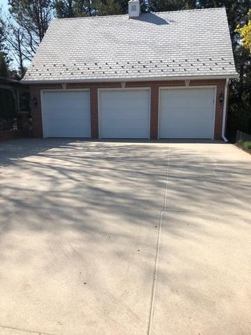 This is the driveway after all three products have been applied. The concrete is leveled, joints are filled, and the surface is protected.