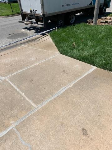 The most severe portion of the driveway was fixed using our two products. This is evidence of the quality of the concrete solutions Thrasher provides.