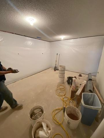 The WaterGuard drainage system was completely sealed and the full clean-up process began.