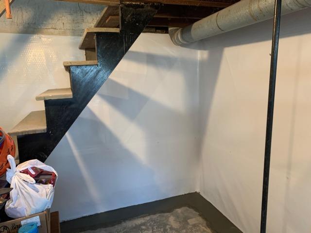 The basement looks like a whole new space.