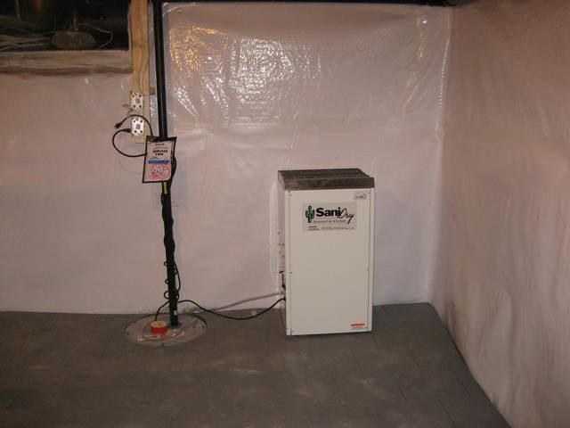 Basement waterproofing system in Peterborough, ON
